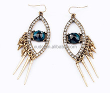 2015 earring design personalized crystal EYE shaped earring wholesale