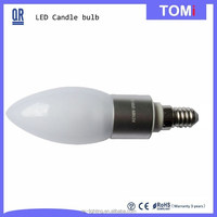 Top End Dimmable LED Candle Light 5W Miilk Cover CE,ROSH Approved Chian LED light supplier