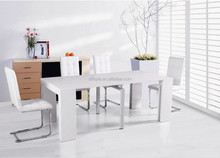 4 seat white wood dining table