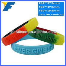 Logo Customized Personalized Silicone Wristband New Trend
