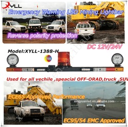 Mine Emergency warning lightbar combination with backup alarm and LED beacon