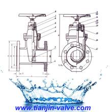 DIN F4 gate valve manufacturer demco 5000psi gate valve