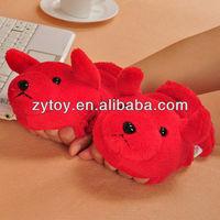 Cheap fashion winter women fleece plush gloves stuffed animal toy