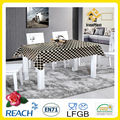 Laço preto de mesa sobreposições/toalha de renda pvc/preto e branco de mesa sobreposições