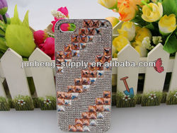 Rhinestone Knitting pattern design diamond case for iPhone 5 iPhone5