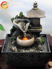 tabletop water fountain indoor zen relaxation waterfall tranquil spring garden