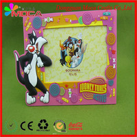 Customize all kinds of lovely animal style 3d PVC picture photo frame