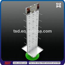 TSD-M302 Custom double sided leg warmer rotating hanging display stand,round rotating clothes rack,rotatable display shelf