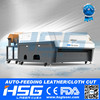 HSG Hot sale Auto feeding cotton fabric laser cutting/engraving machine HS-T1610R