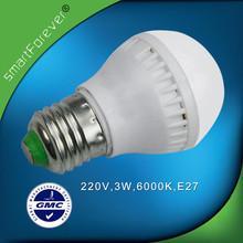 220V 3W Plastic Shell E27 LED Lamp Bulb for Commercial Wholesale