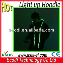 China manufacturer Hotest! Newest! Fashionable! LED Light Hoodie,Clothes with el wire for party/club