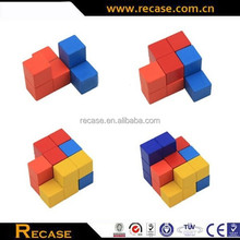 Educational wooden popular cube partterning puzzle gifts