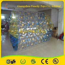 Custom color and logo PVC material inflatable walking water roller for Water Toy Equipment or Grassland Sports
