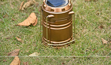 Newest Solar Power Outdoor Camping LED Light 6LED Rechargeable Camping Lantern Portable Outdoor Camping LED Lantern