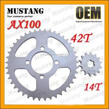 for Suzuki AX100 Motorcycle Parts Moped Rear Wheel Sprocket