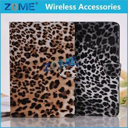 Friable lovely leopard print geniune leather wallet case super durable