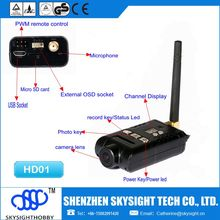 SKY-HD01 AIO fpv 400mw 32ch 5.8ghz wireless transmitter with HD 1080p camera