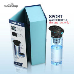2015 protein shaker cups promotional bpa free sports bottle with uv light