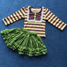 Hot Sale Cute Baby Cotton Clothes With Ruffles Sets Girls 2 pc Skirts Sets Lovely Infants' Clothing QL-211
