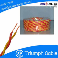 0.5mm PVC insulated multicore twisted pair electrical wire