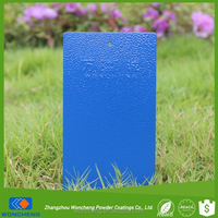 Blue Color Textured Effect Polyester Powder Coating Paint