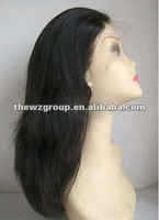 Free shipping ,26 Inch chinese Remy Hair Yaki Silk Top Full Lace Wig With Baby Hair