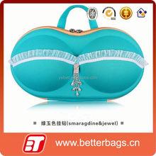 2015 woman storage box wholesale lace design bra eva underwear bag