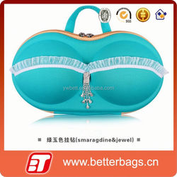 2015 woman storage box wholesale lace design bra eva underwear bag