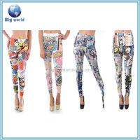 OEM wholesale fashion custom fitness printed yoga stretch pants, yoga pants wholesale, women sportswear