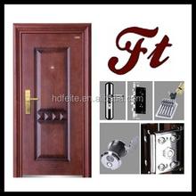 china new model best price decorative single leaf american steel door high quality steel security doors