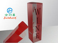 custom offest printing clear plastic single wine bottle gift box wholesale