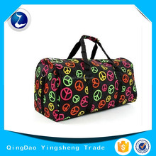 "Women's 22"" Multicolor Peace Sign Duffle Bag - Large Carry On Travel Duffel"