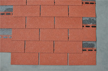 Chinese Top-quality Red single layer Fiberglass Roofing Asphalt Shingles