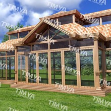 2015 A9 aluminum curved glass sunrooms roof