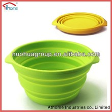 2015 New Product Wholesale Camping Bucket Silicone Folding Bucket