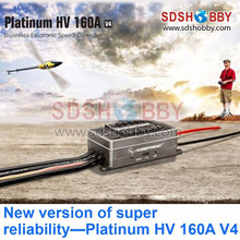Hobbywing Platinum Series V4 160A Brushless Electric Speed Controller/ESC for Aircrafts High Voltage ESC
