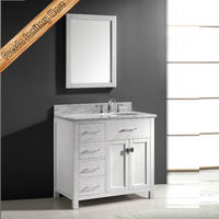 Free standing waterproof 40 inch white vanity for small bathroom vanity tita