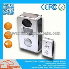 Motion Detection Peephole Camera Motion Sensor Alarm With Video Record and Solar Panel