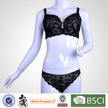 2015 New Arrival Pretty Pattern Young Girl Transparent Bra And Panty Set