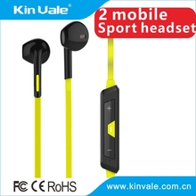 2015 new design high end newest and fashion wireless mono bluetooth headsets sport Bluetooth headset