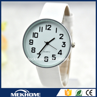 leather band big dial watches custom logo for women