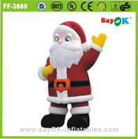 outdoor christmas products oxford cloth inflatable santa claus