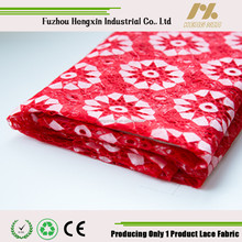 2015 new design french nylon polyster red lace fabric for garment wedding dress lace high quality hot sell fashion lace