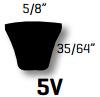 Classic C Section V Belt - V-Belts C4064