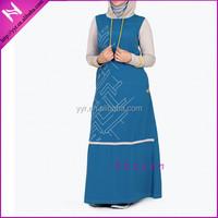 simple printing muslim cotton jubah