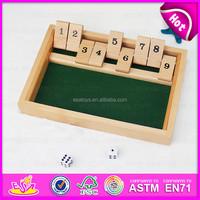 2015 Wooden Shut The Box for kids,Christmas Gift wooden game shut the box for children,Best sale 1-9 wooden shut the box W01A083