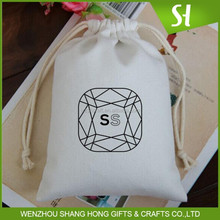 Latest eco white cotton drawstring bag