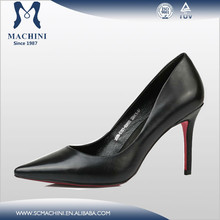 Elegant leather party evening shoes for women