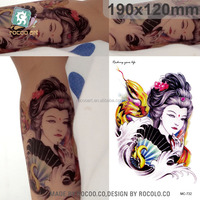 MC732/New Beauty Women with Snake tattoo designs temporary tattoo sticker wholesaler
