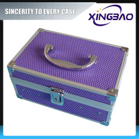Jewelry storage cosmetic case with inner box,color jewel cosmetic case with mirror,aluminum cosmetic case